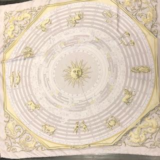 Hermès RARE Astrologie Surteint Dip-Dyed Silk Scarf