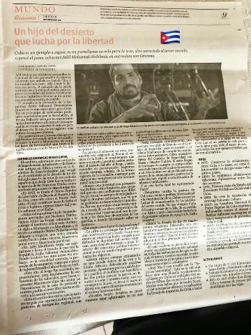جريدة #Granma الكوبية تجري لقاء مطولا مع الاعلامي الخليل محمد