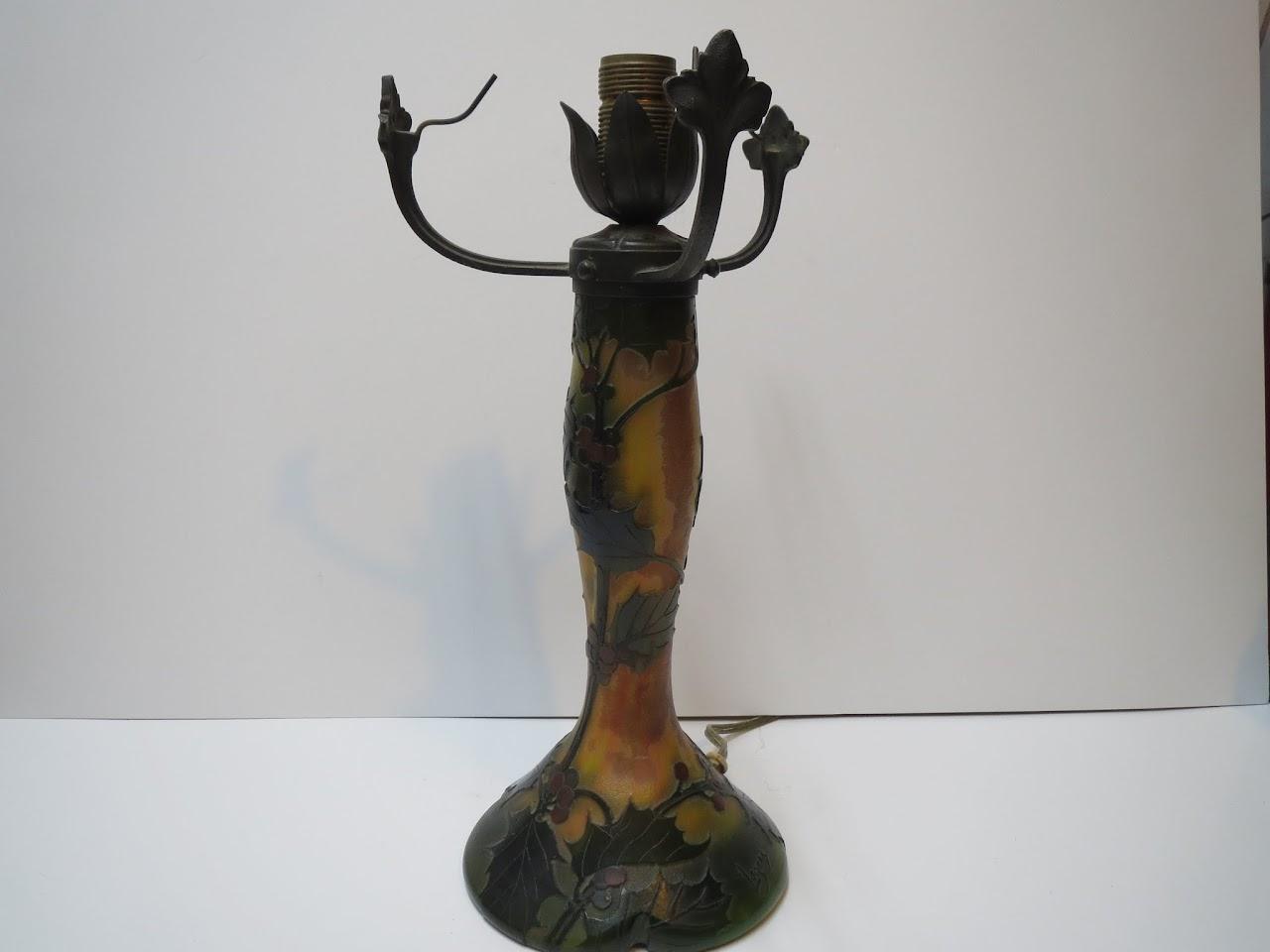 Antique Legras Glass Lamp
