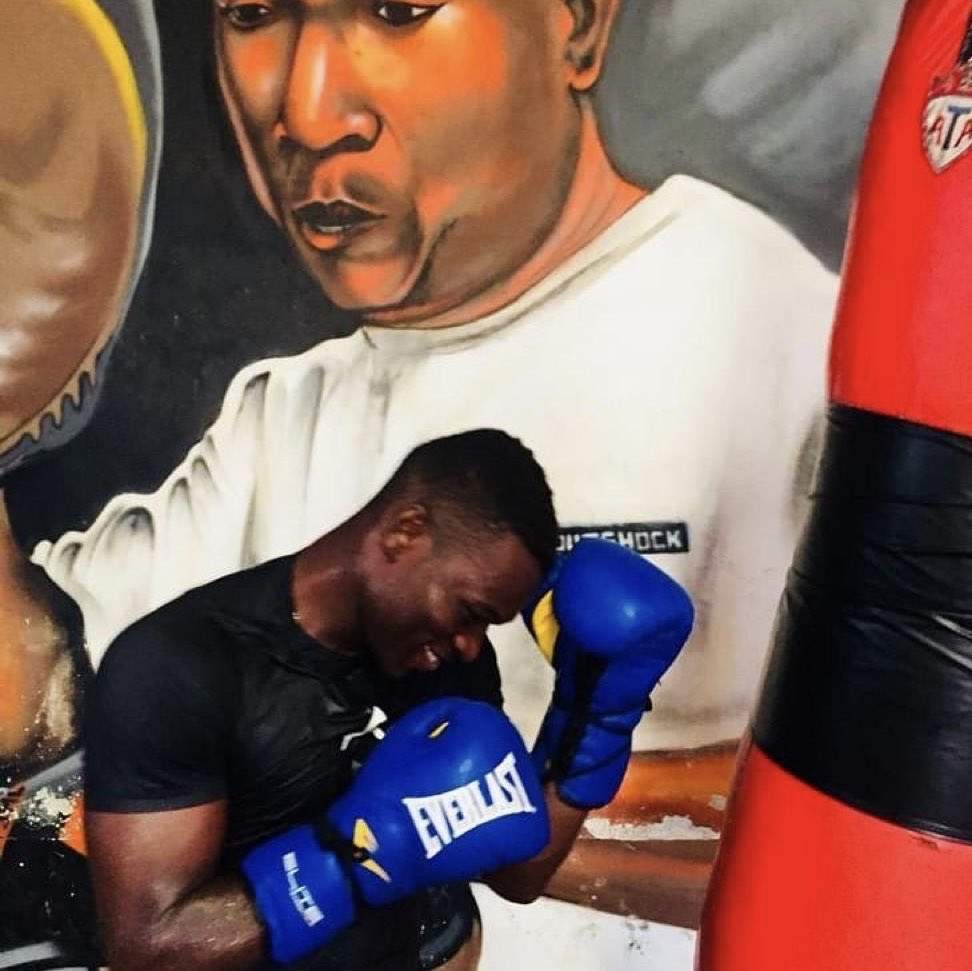 Richard Commey Trains Hard In Preparation Of His Title Defence Against Teofimo Lopez.