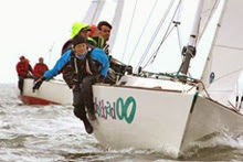 J/22 sailing upwind in Netherlands