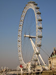 The London Eye from the river - we'd be there after dinner