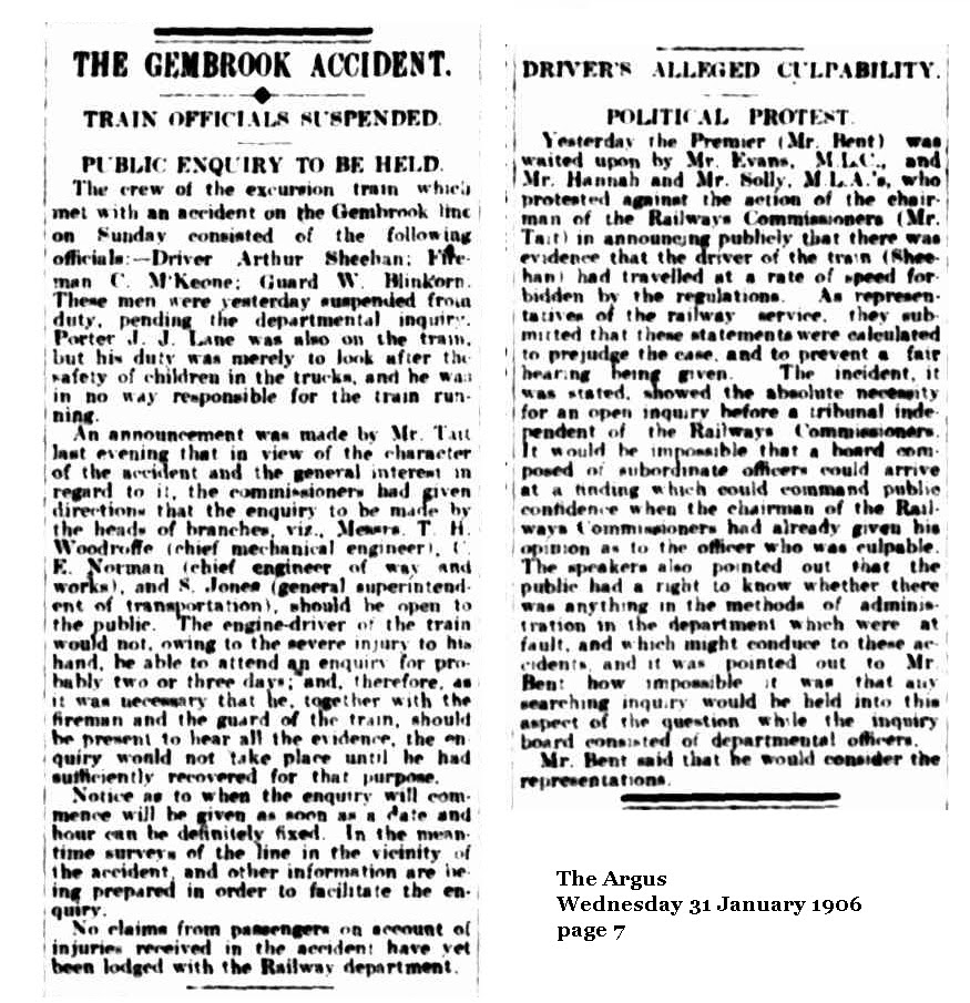 The Argus  Wednesday 31 January 1906    page 7