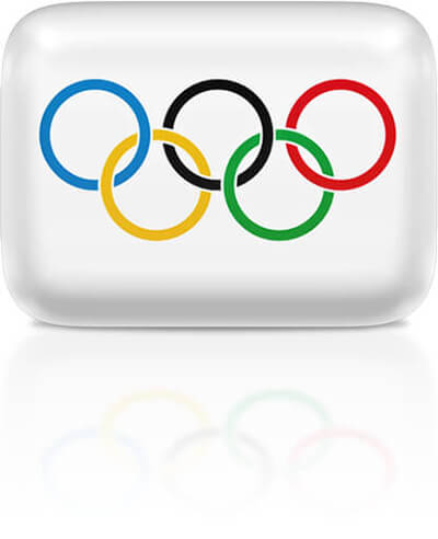 Olympic flag clipart rectangular