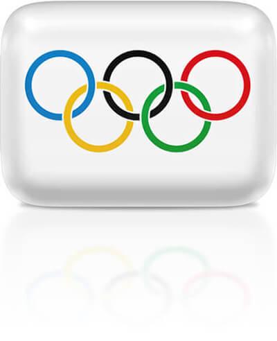 Olympic flag clipart rectangular