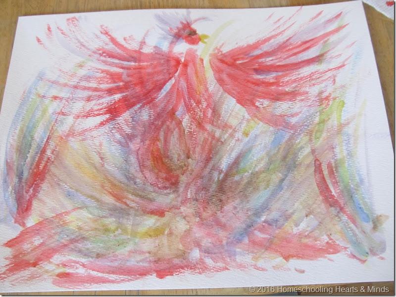 Egg tempura Painting at Homeschooling Hearts & Minds