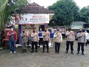 Dirnarkoba dan Dirtahti Polda Banten Kunjungi Posko PPKM di Kelurahan Tigaraksa