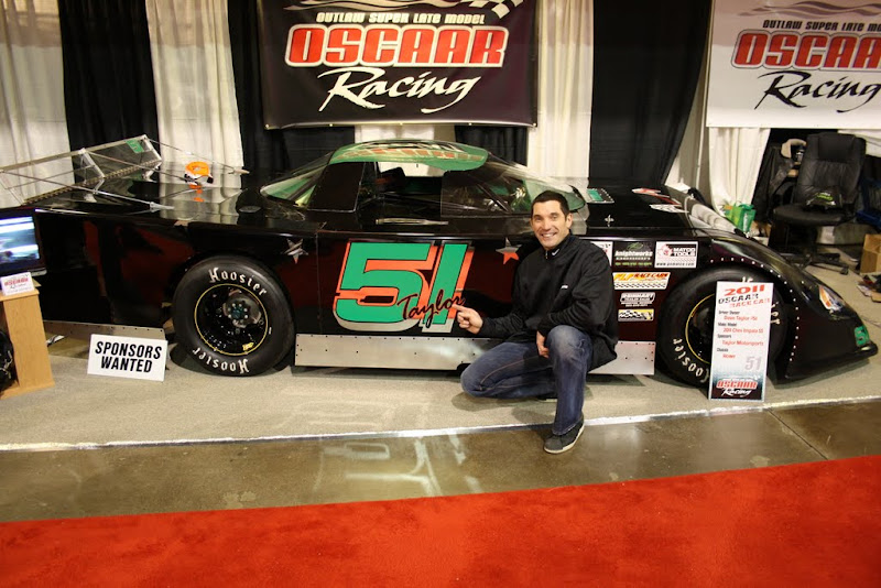 Max Papis at the OSCAAR Booth.