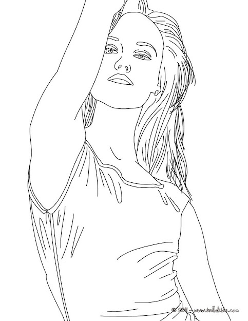 Vanessa Paradis French Singer Coloring Page