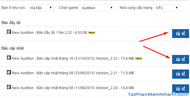 tải game audition mới