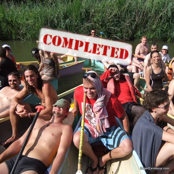 #4 Canoe the Danube River (Hungary). Completed.