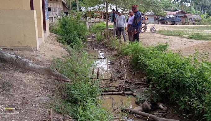 Warga Alue Krak Kayee Minta Balai Wilayah Sungai Sumatra I Bangun Saluran Pembuang