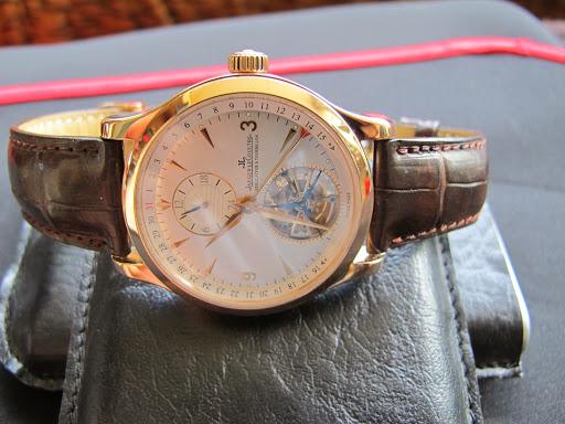 Bán đồng hồ Jaeger Lecoultre – Tourbillon – Vàng hồng – dây da – size 42mm