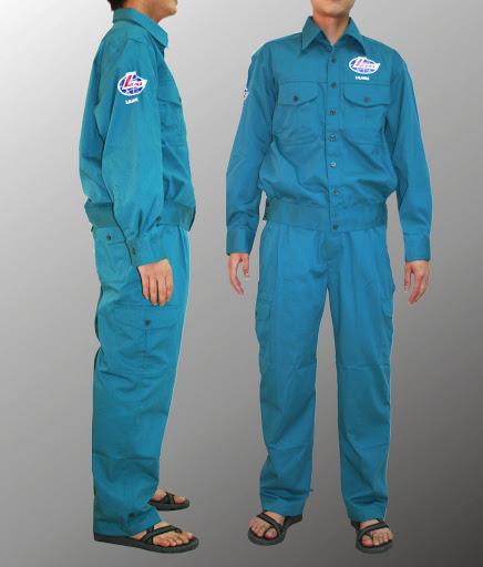 Quần áo bảo hộ lao động vải kaki xanh Lilama -QAK0007