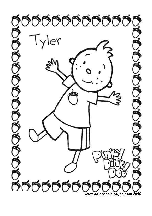 coloring pages pinky dinky doo - photo#9