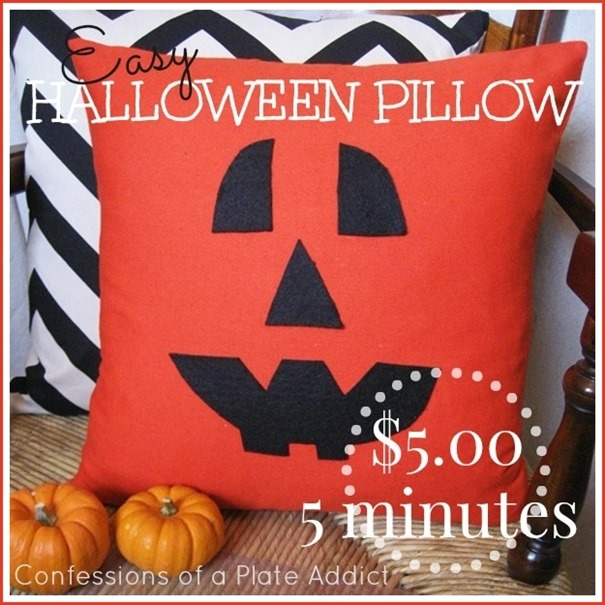 CONFESSIONS OF A PLATE ADDICT Easy Halloween Pillow...$5 in 5 Minutes