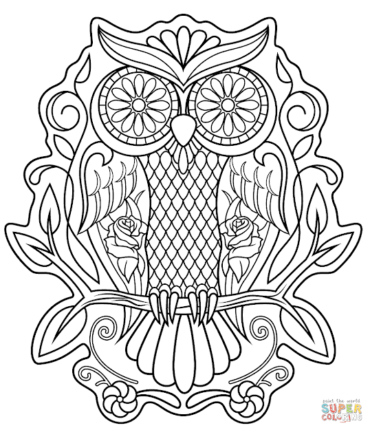 Dress Sugar Skull With Roses Coloring Pages