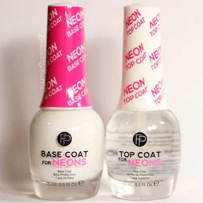 Neon base coat, Neon top coat