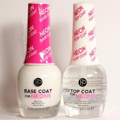 Neon base coat, Neon top coat