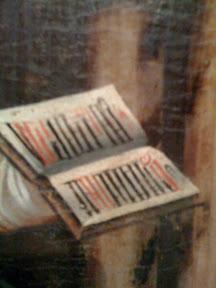 Libro a una sola columna, dos tintas y capitulares ¿lombardas?.