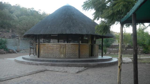The bar at the Rasesa Lodge