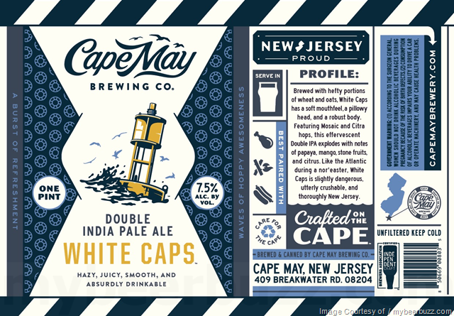 Cape May Brewing White Caps cans