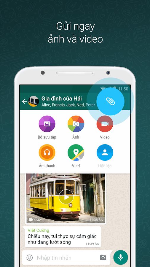WhatsApp Messenger- ảnh chụp màn hình