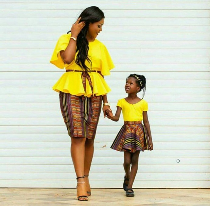THE ENVIABLE ANKARA LADIES STYLES YOU SHOULD STEAL FROM MUM AND DAUGHTER IN 2018 7