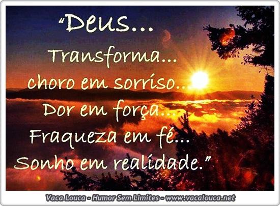 A transformação de Deus