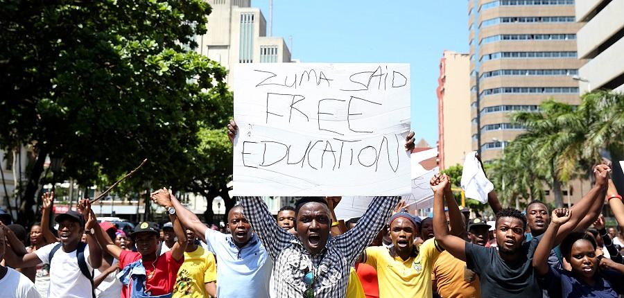 Jacob Zuma's promise of free higher education honoured