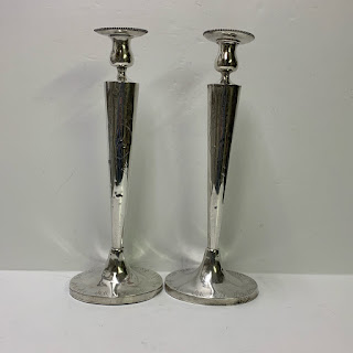 """Sterling Silver 14.5"""" Candlestick Pair"""