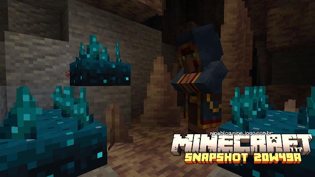 Sensores Sculk | Minecraft 1.17: Snapshot 20w49a