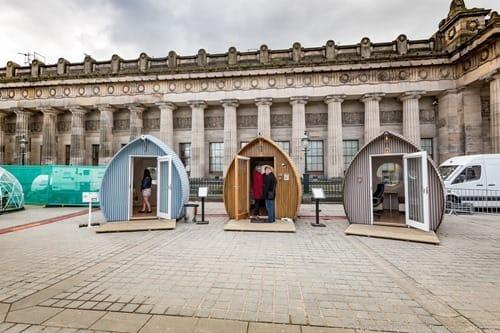Tiny homes Edinburgh International Science Festival