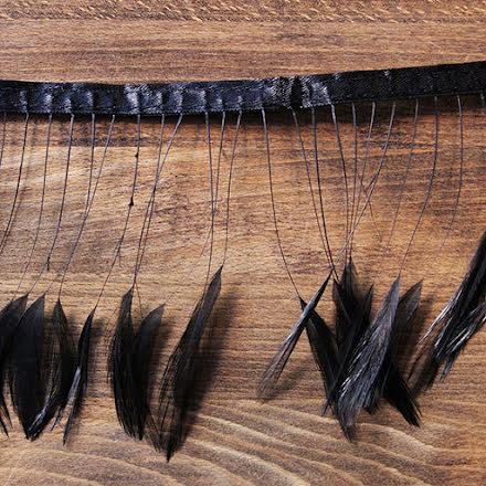 Fjäderband - 12cm, svart