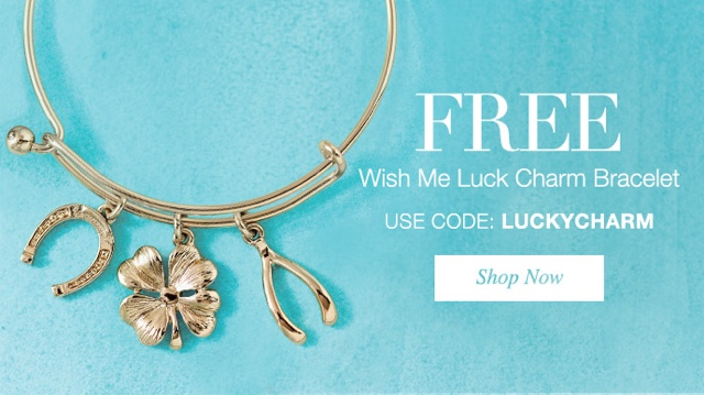 Free Luck Charm Bracelet with purchase!