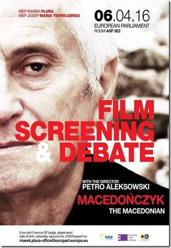 """Προβολή ταινίας με τίτλο """"THE MACEDONIAΝ""""  για τις μη αναγνωρισμένες μειονότητες της Ελλάδας και της Πολωνίας, μετά το τέλος της προβολής  θα ακολουθήσει ανοιχτή  συζήτηση"""