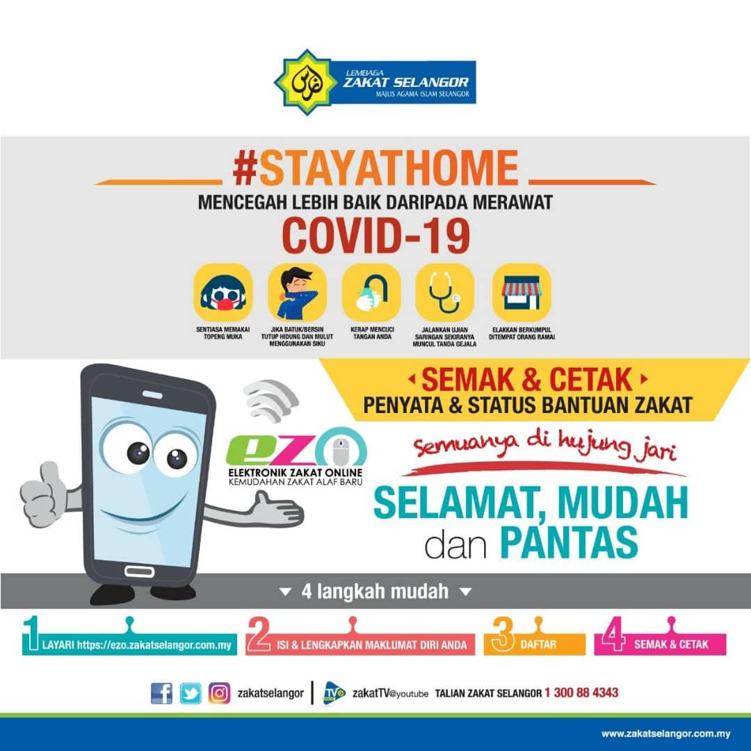 Bayar Zakat Fitrah Online Dengan EZakatPay Lembaga Zakat Selangor