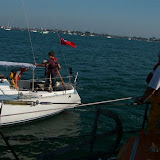 30 September 2011 - the ALB escorts the yacht into Poole Harbour
