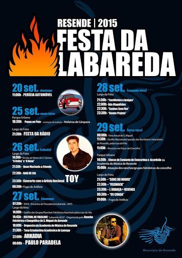 Programa da Festa da Labareda - Resende - 2015