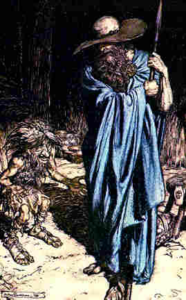 Wotan As The Wanderer And Regin, Asatru Gods And Heroes