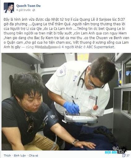 Thông tin mới nhất về vụ tai nạn của Quang Lê sau chuyến lưu diễn ở Mỹ - DIENANH24G Thông tin mới nhất về vụ tai nạn của Quang Lê sau chuyến lưu diễn ở Mỹ