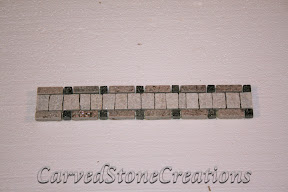 Black, Border, Flooring, Flooring & Mosaics, Interior, Listello, Mosaic, Natural, Quartzite, Rose, Stone, White