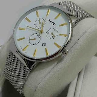 jam tangan Rado tgl rantai pasir Silver