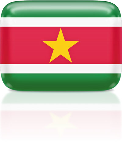 Surinamese flag clipart rectangular