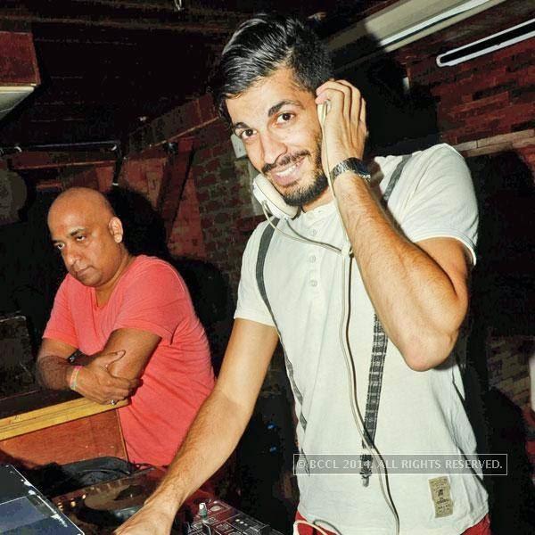 DJ Rufu Mofu during 'Cool Off Tuesdays' at Cafe Out Of The Box, in Delhi.