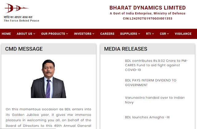 BDL (Bharat Dynamics Limited)
