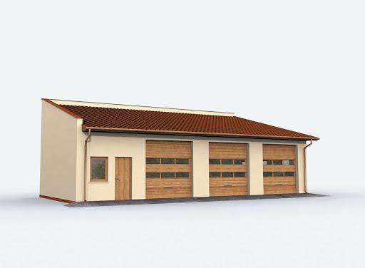 projekt G160 szkielet drewniany garaż trzystanowiskowy