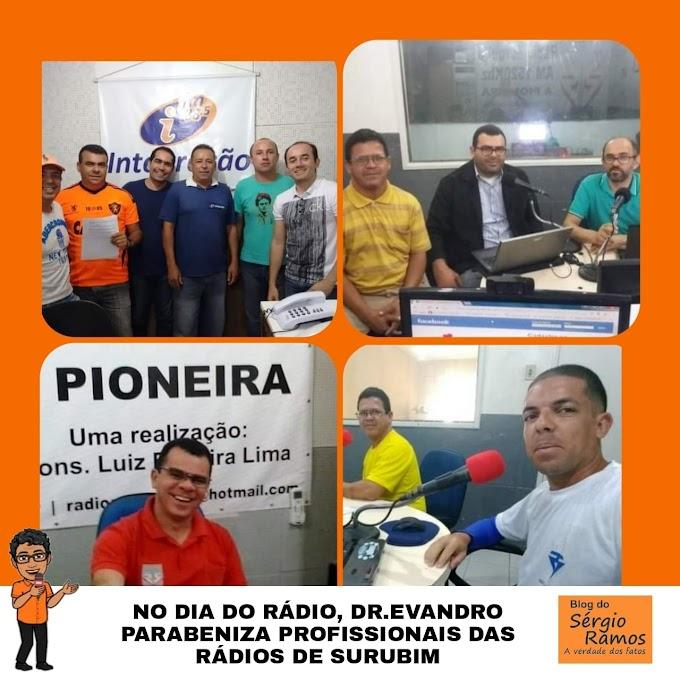 NO DIA DO RÁDIO, DR.EVANDRO PARABENIZA PROFISSIONAIS DAS RÁDIOS DE SURUBIM