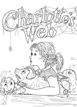 charlottes-web-coloring-page