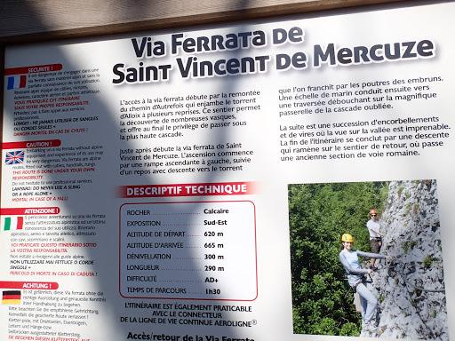 Descriptif de la via ferrata de Saint Vincent de Mercuze